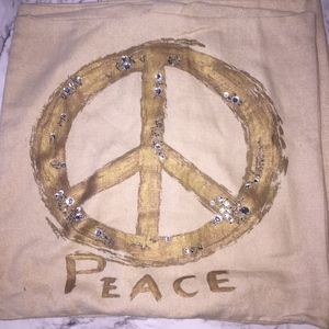 Pottery Barn Peace Sign Pillowcases ( Set of 2 )